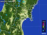 2015年06月04日の宮城県の雨雲レーダー