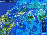 2015年06月05日の四国地方の雨雲の動き