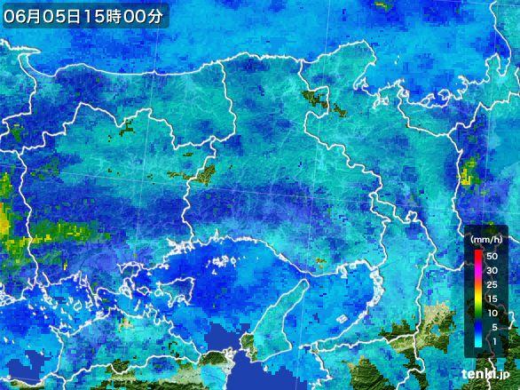 兵庫県の雨雲レーダー(2015年06月05日)