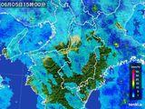 2015年06月05日の奈良県の雨雲レーダー