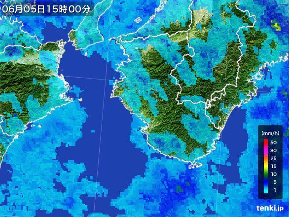 和歌山県の雨雲レーダー(2015年06月05日)