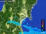 2015年06月05日の宮城県の雨雲レーダー