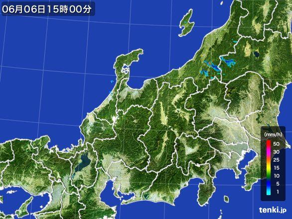 北陸地方の雨雲レーダー(2015年06月06日)