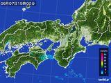 2015年06月07日の近畿地方の雨雲レーダー