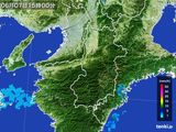 2015年06月07日の奈良県の雨雲レーダー