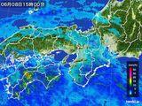 2015年06月08日の近畿地方の雨雲レーダー