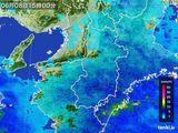 2015年06月08日の奈良県の雨雲レーダー