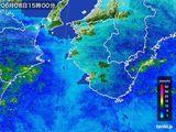 2015年06月08日の和歌山県の雨雲レーダー