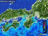 2015年06月09日の近畿地方の雨雲レーダー