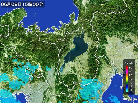滋賀県の雨雲レーダー(2015年06月09日)