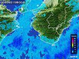 2015年06月09日の和歌山県の雨雲レーダー