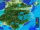 2015年06月09日の徳島県の雨雲の動き