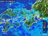 2015年06月11日の近畿地方の雨雲レーダー