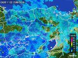 2015年06月11日の兵庫県の雨雲の動き