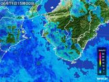 2015年06月11日の和歌山県の雨雲レーダー
