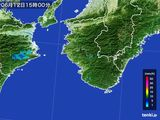 2015年06月12日の和歌山県の雨雲レーダー