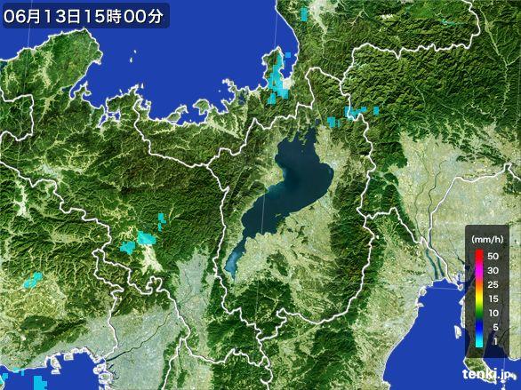 滋賀県の雨雲レーダー(2015年06月13日)