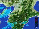 2015年06月13日の奈良県の雨雲レーダー