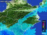 2015年06月13日の徳島県の雨雲の動き