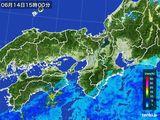 2015年06月14日の近畿地方の雨雲レーダー