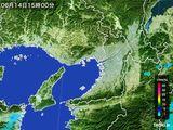 2015年06月14日の大阪府の雨雲レーダー