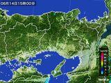 2015年06月14日の兵庫県の雨雲の動き