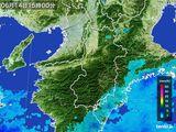 2015年06月14日の奈良県の雨雲レーダー