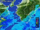 2015年06月14日の和歌山県の雨雲レーダー