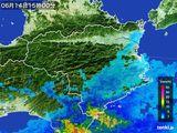 2015年06月14日の徳島県の雨雲の動き