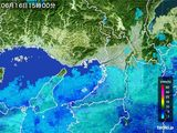 2015年06月16日の大阪府の雨雲レーダー