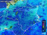 2015年06月16日の徳島県の雨雲の動き