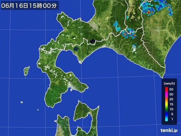 道南の雨雲レーダー(2015年06月16日)