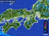 2015年06月17日の近畿地方の雨雲レーダー