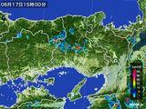 2015年06月17日の兵庫県の雨雲の動き