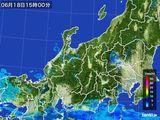 雨雲レーダー(2015年06月18日)