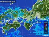 2015年06月18日の近畿地方の雨雲レーダー