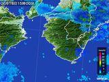 2015年06月18日の和歌山県の雨雲レーダー