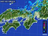 2015年06月19日の近畿地方の雨雲レーダー