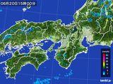2015年06月20日の近畿地方の雨雲レーダー