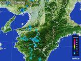 2015年06月20日の奈良県の雨雲レーダー