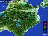 2015年06月20日の徳島県の雨雲の動き