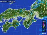 2015年06月21日の近畿地方の雨雲レーダー
