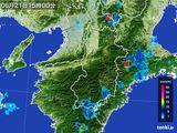 2015年06月21日の奈良県の雨雲レーダー