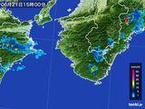 2015年06月21日の和歌山県の雨雲レーダー