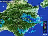 2015年06月21日の徳島県の雨雲の動き