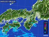 2015年06月22日の近畿地方の雨雲レーダー