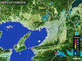 2015年06月22日の大阪府の雨雲レーダー