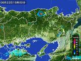 2015年06月22日の兵庫県の雨雲の動き