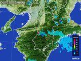 2015年06月22日の奈良県の雨雲レーダー