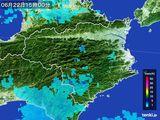 2015年06月22日の徳島県の雨雲の動き